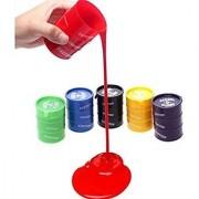 Flintstop Barrel O Slime Slimey Toys Multi Color (Pack of 4)