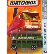 Matchbox City Action Series #52 Routemaster Double Decker Bus Green The Matchbox Transport Sightseeing Tours 3 Lug Wheels Detailed Diecast Scale 1/64 Collector