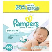 Pampers Baby Wipes Sensitive 7X Refill 448 Count