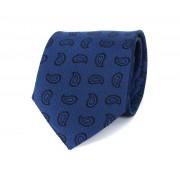 Krawatte Paisley Blau C236 - Blau