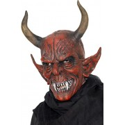 Smiffy's Unisex Devil Demon Mask, Red, One Size, 25314