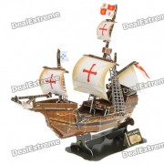 DIY Puzzle 3D Ship Model - Santa Maria