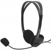 Casti Stereo cu microfon ESPERANZA EH102 (Negru)