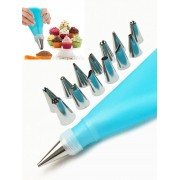 rosegal Squeeze Cream Tools Cake Decorating Stainless Steel Pastry Piping Nozzle Set