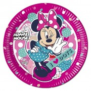 Minnie Mouse I Love Dots Paper Plates - Pack Of 8