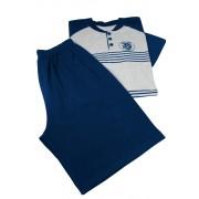 Derry pánské pyžamo z bavlny M tmavě modrá