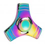 Fidget Spinner Toy Stress Reducer Anti-Anxiety Toy pour enfants et adultes, 2 minutes de temps de rotation, R188 Roulement de perles d acier + Matériel d alliage de zinc, coloré Trois feuilles