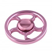Fidget Spinner Toy Stress Reducer Anti-Anxiety Toy pour enfants et adultes, 3.5 Minutes Rotation Time, petit perle en acier Bearing + Aluminium Alloy Material, Wind Wheel (Rose Gold)