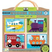 Green Start Ready, Set, Go Wooden Puzzles by Ikids
