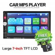 "Eh 7 ""HD Touch Screen car Bluetooth Stereo Radio MP3 MP4 MP5 (Con la Cámara)-Negro"