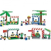 City Marketplace Blocks 4 Individual Building Brick Playsets with 557-Pc Toy Bricks Included - 4 Separate Lego Compatibl
