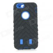 ABS protection amovible 3-en-1 + Silicone retour affaire couverture pour IPHONE 6 - noir + bleu