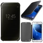 Samsung Galaxy J7 (2016) J710f/ Duos/ J710fn/ J710m/ J710h: Etui Housse Pochette Etui À Rabat, View Cover, Coque Silicone Gel Rigide Livre Rabat - Noir