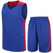 Баскетболен екип потник с шорти - син с червено