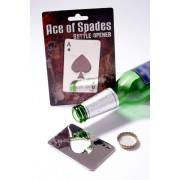 Apribottiglie a forma carta da gioco - Asso di picche