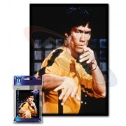 Small Art Sleeve - Bruce Lee - Deck Protector Sleeves (60 Count) for YuGiOh, Cardfight Vangaurd or Smaller Size Cards by Max Protection