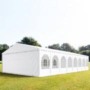 Profizelt24 Partyzelt 8x16m PVC weiß Gartenzelt, Festzelt, Pavillon
