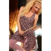 Paula sukienka PI-003 (fioletowy-wzór)