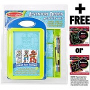 Adventure Design Activity Kit + FREE Melissa & Doug Scratch Art Mini-Pad Bundle [83584]