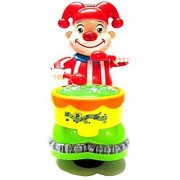 clown with drum beat with walk 3D lights and music feature..