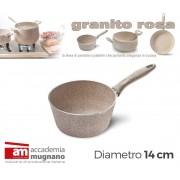Conica alluminio 14 cm effetto pietra Accademia Mugnano Linea GRANITO ROSA