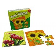 Kids Educational Baby Paper Flowers Puzzle Games 4 Sets Puzzles - 6 x 6 Inches