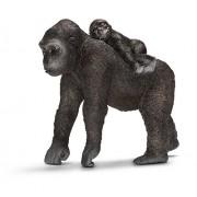Schleich 2514662 - Gorilla Femmina Con Cucciolo
