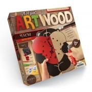 Набор креативного творчества ARTWOOD настенные часы Медвежонок