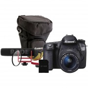 KIT Canon 70d 18-55 IS STM + Microfono Rode GO + Tarteja 16GB + Filtro UV + Bolso