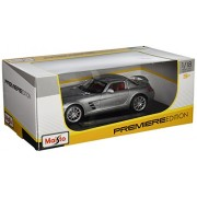 Maisto 1:18 Mercedes-Benz Scale SLS AMG Diecast Vehicle (Colors May Vary)