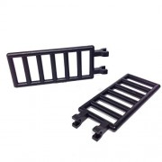 Lego Parts: Bar 7 x 3 with Double Clips - Ladder (PACK of 2 Black Ladders)