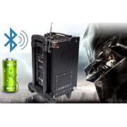 Тонколона с вграден акумулатор, МП3 плейър от SD карта и флашка, Блутут и 2 безжични микрофона и Блутут за караоке MBA Q8 Bluetooth