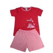 Nelinka dívčí pyžamko 5-6 let červená