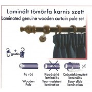 Laminált tömörfa karnis szett, dió/120cm/Cikksz:095009