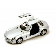 Kinsmart Mercedes-Benz SLS AMG Die-Cast Car Toy with Openable Doors & Pull Back Action