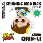 Street Fighter ~play set products Mini Zigsaw Ouzzle 100piece Spinning Bird Kick 100-19