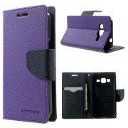 Korean Mercury Fancy Wallet Case for Samsung Galaxy Core Prime Purple
