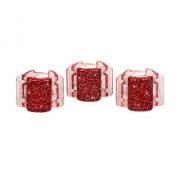 Linziclip Mini Hair Clip Gumičky do vlasov pro ženy Skřipec do vlasů Odtieň - Red Glitter
