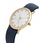 Analog Watch Classic White Marble Dial & Navy Strap Watch GN-CW