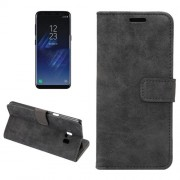 For Samsung Galaxy S8 Plus Sheep Bar Material Horizontal Flip Leather Case with Holder & Card Slots & Wallet & Photo Frame (Black)
