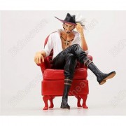 6 One Piece Portrait Of Pirates Dracule Mihawk With Chair Action Figure Toy