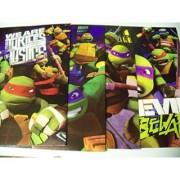Teenage Mutant Ninja Turtle 4 Folder Set ~ We are the Turtles of Justice Evil Beware (Each Turtle in Lead)