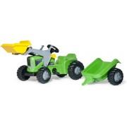 Rolly Toys 630035 RollyKiddy Futura Tractor met Lader en Aanhanger