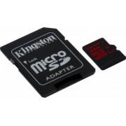 Card de Memorie Kingston microSDHC 32GB UHS-I U3 Clasa 10 cu adaptor