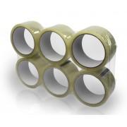 Ragasztószalag Acryl, Transzparens/Átlátszó 48mm x 50 méter, 6 tekercs/csomag