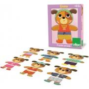 Vilac - 4620 - Puzzle en Bois - Emma à Habiller - 6 x 3 Pièces