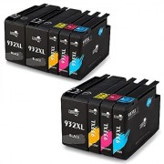 MIROO Replacement for HP 932XL 933XL Ink Cartridge Compatible with HP Officejet 7612 6600 6100 6700 7110 7610 Printer 9 Pack (3 Black 2 Cyan 2 Magenta 2 Yellow )