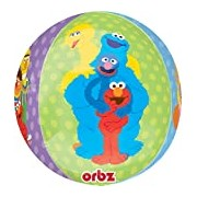 Amscan 15-inch/ 38cm Sesame Street Orbz Foil Balloons