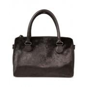 Dames real leather fur detail tas