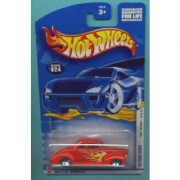 Mattel Hot Wheels 2002 1:64 Scale First Editions Red Flamed 1940 Ford Coupe Die Cast Car #024